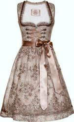 Dirndl Nevia Taupe and Silver