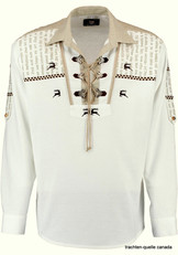 Men's Trachten Shirt Pullover White
