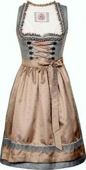 Dirndl Nova Blue Grey with Taupe