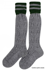 Boy's Socks Grey with Green Stripe