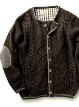 Men's Cable Knit Cardigan Mocha