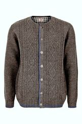 Men's Cable Knit Cardigan Light Grey