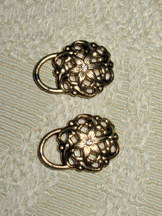 Dirndl Hooks Antique Gold Edelweiss Set of 8