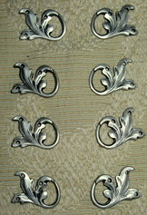 Dirndl Bodice Hook Acanthus Leaf Design Set of 8