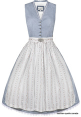 Dirndl Fanny by Marjo  Light Blue Cotton