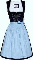 Dirndl Hadia Navy and Sky Blue by Marjo
