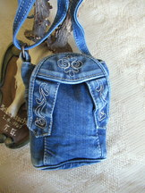 Purse Cross-body Denim Lederhosen