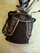 Purse Cross-body Brown Suede Lederhosen