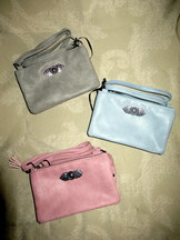 Purse Pleather with Metal Decoration 3 colour choices