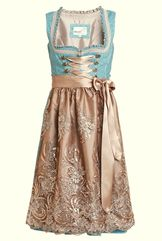 Dirndl Flana Turquoise and Taupe