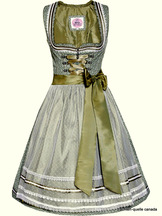 Dirndl Murna Sage Green and White by Marjo