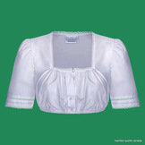 Dirndl Blouse with Square Neckline and Lace Trim