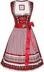 Dirndl Merla by Marjo Deep Red