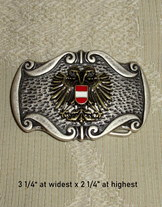 Belt Buckle with Austrian Eagle Crest