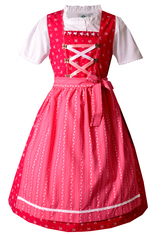 "Girls"" Dirndl Fuchsia and Pink (also in Toddler Sizes)"