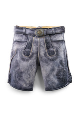 Lederhosen Maiti Stone Grey Lambskin Leather