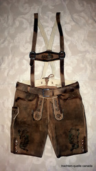 Lederhosen Carl II Antiqued with Green Accents