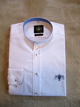 White Dress Shirt with Bavarian Theme Slim