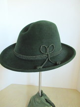 Traditional Sechser Hat Deep Green Rabbit Fur Felt