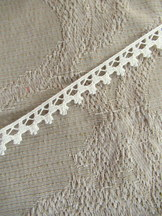 Ivory Cotton Picot Lace 4.5 meter length