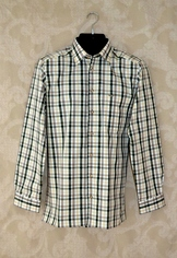Men's Trachten Shirt - Green/Natural Plaid