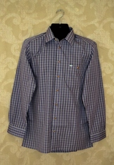 Men's Trachten Shirt - Purple and Grey Plaid