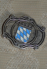 Belt Buckle - Enameled Bavarian Crest