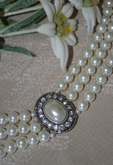 "Necklace ""Sissi"" Natural Pearl White"